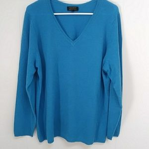 Charter Club Cashmere V neck Sweater 2X